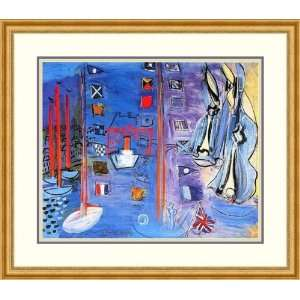 The Basin at Deauville by Raoul Dufy   Framed Artwork Home & Kitchen