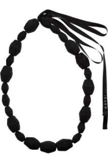 Marni Fabric covered bead necklace