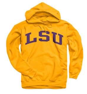 LSU Tigers Gold Arch Hooded Sweatshirt