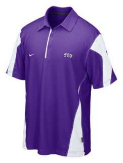 TCU Horned Frogs Nike Purple Coaches Sideline Check Down Polo