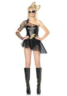 Celebrity Costumes Lady Gaga Costumes Sexy Lightning Rocker Costume