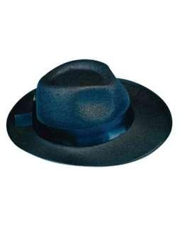 Deluxe Felt Gangster Hat   Black  Hats Fedoras Hats, Wigs & Masks for