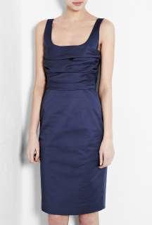 Moschino Cheap & Chic  Blue Satin Touch Stretch Cotton Pencil Dress
