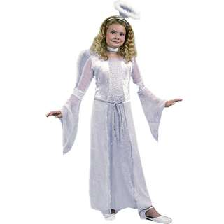 Heavenly Angel White Child Costume   Includes long gown, tie belt