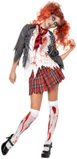 Highschool Horror School Girl Adult Costume   Includes Jacket with