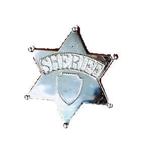 Jumbo Sheriff Badge   Police Officer Costume Accessories   15BB292
