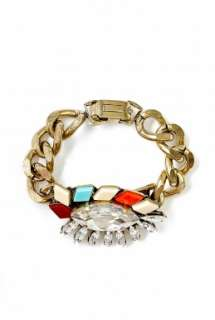 Anton Heunis  Mosaic Detail Crystal Bracelet On Curb Chain by Anton