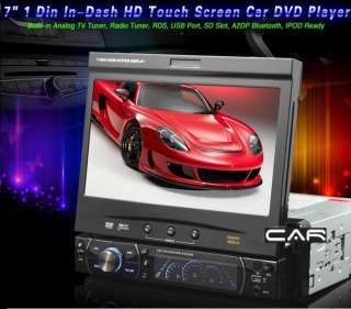 RADIO 1DIN DETACHABLE DVD 7 HD CAR STEREO PLAYER BLUETOOTH USB TV