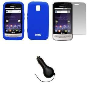 EMPIRE Blue Silicone Skin Case Cover + Screen Protector