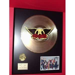 Aerosmith 24kt LP Gold Record LTD Edition Display ***FREE