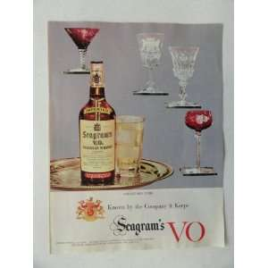 Seagrams V.O. Canadian Whiskey. Vintage 50s full page