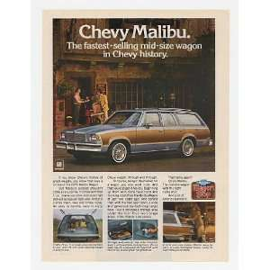 1979 Chevy Malibu Station Wagon Fastest Selling Print Ad