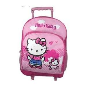 Hello Kitty Pink Large Rolling Backpack Toys & Games