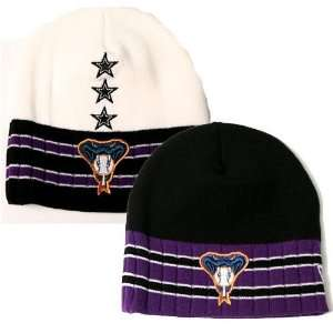 New Era Stripe Knit Beanies   Officially Licensed MLB Apparel