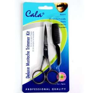 Elixir Beauty Cala Deluxe Mustache Trimmer Kit Scissors