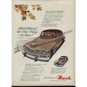 Whats Back of the Big Swing to Nash?  1947 Nash Ad