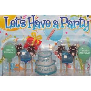 Boys BLUE HAPPY BIRTHDAY Cake / Candles / Toppers / Decorations / Kit