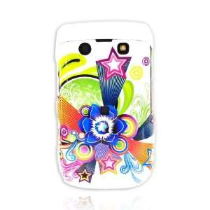 Blackberry Bold 9700 Hard Case Rainbow Star White TOOL