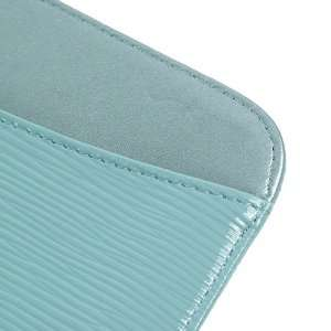 ZuGadgets Light Blue / Wave Textures Leather Case / Cover