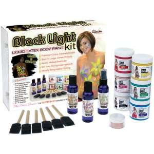 Liquid Latex Body Paint Kit   Black Light/Fluorescent