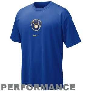 Nike Milwaukee Brewers Royal Blue Cooperstown Retro Logo