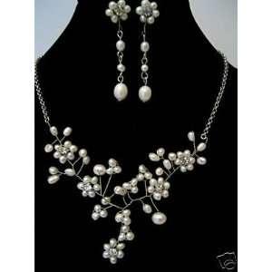 Necklace Earring Set Bridal Wedding Prom Jewelry