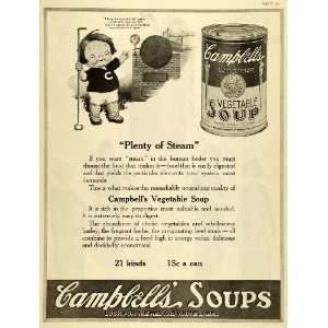 1920 Ad Joseph Campbells Vegetable Soup Steam Boiler