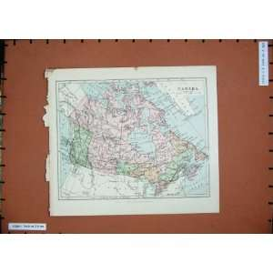 Antique Maps Colour Canada Hudson Bay Lake Superior Home