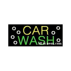 Car Wash Business Neon Sign with Bubble Detail Office