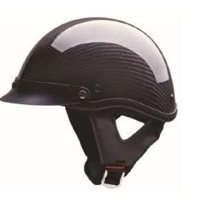HCI Black Carbon Fiber Half Motorcycle Helmet. 100 134 Automotive