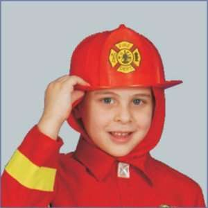 Red Fire Helmet Childs Costume Accessory Toys & Games