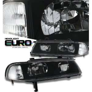 1992 1996 Honda Prelude Black 1Pc W/Clear Corner Headlight Performance