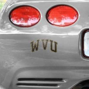 NCAA West Virginia Mountaineers Navy Blue Wordmark Car Decal
