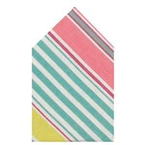Durable Hand Woven 100% Cotton Pink and Green Striped Napkins