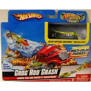 Hot Wheels Color Shifters Croc Rod Crash Playset Toys & Games