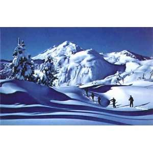 Vintage Ski Poster   Cross Country Skiing