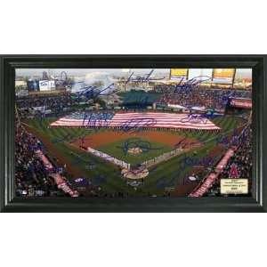 Angels MLB Baseball Signature Field Framed Art