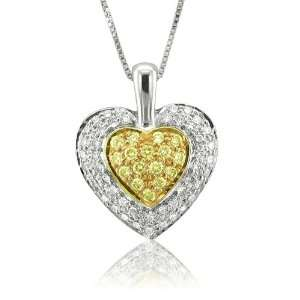Diamond Heart Pendant Necklace (GH, I1 I2, 0.52 carat) Diamond