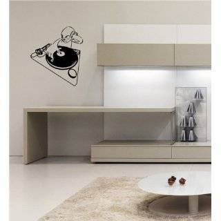 Vinyl Wall Art Decal Sticker DJ Turntable Urban Music Decor BIG 40