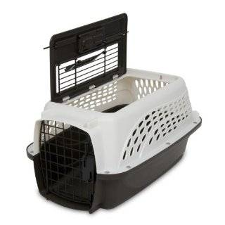Petmate Two Door Top Load 19 Inch Pet Kennel, Metallic Pearl White and