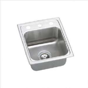 Top Mount Self Rim Single Bowl 18 Gauge Stainless Steel Sink With 3