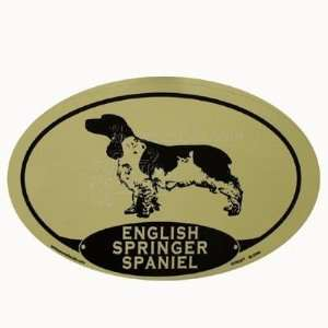 Oval Dog Decal English Springer Spaniel  Pet Supplies