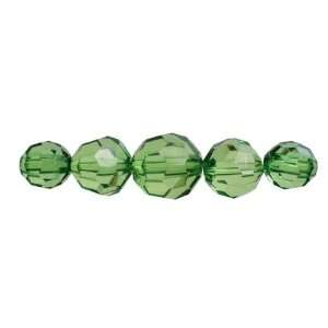 Cousin Jewelry Basics 37 Piece Acrylic Green Facet Round