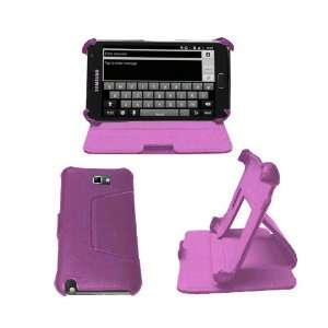Hard Leather Flip Carry Case With Stand For The Samsung Galaxy Note