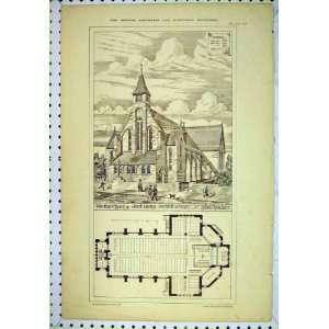 1878 New Church Saint George Denbhill Deene Floor Plan