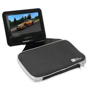 Portable DVD Player Black Case With Soft Padded Lining For