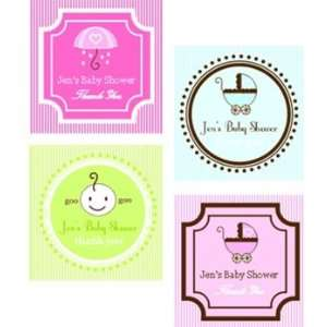 Personalized Baby Shower Favor Tags & Stickers Toys & Games