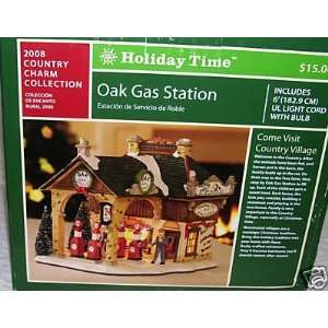 Holiday Time Oak Gas Station/Village Piece/Village Accessory/Christmas