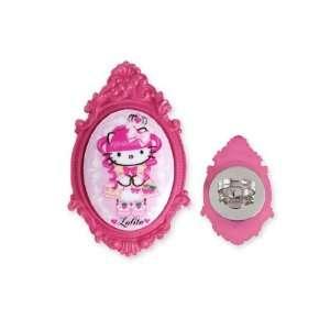 Tarantino Hello Kitty Pink Head Portrait Cameo Ring   Fuchsia Jewelry
