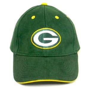NFL GREEN BAY PACKERS GREEN COTTON OSFA HAT CAP NEW ADJ